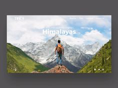 Trekking website UI design with Parallax Effect on Behance Website Design Inspiration, Best Website Design, Homepage Design, Ui Ux Design, Design Food, Graphic Design, Social Media Poster, Social Media Design, Design Portfolio Layout
