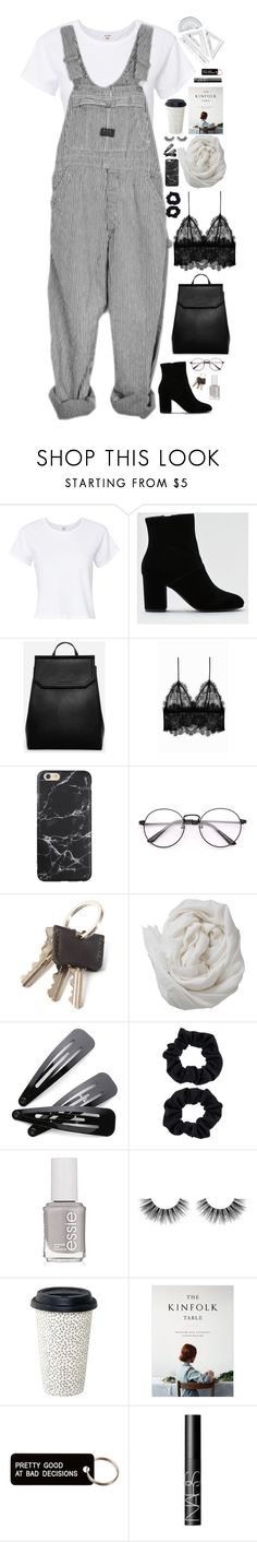 """Untitled #2938"" by wtf-towear ❤ liked on Polyvore featuring RE/DONE, American Eagle Outfitters, CHARLES & KEITH, Anine Bing, Brunello Cucinelli, Accessorize, Essie, Velour Lashes, Berylune and Various Projects"