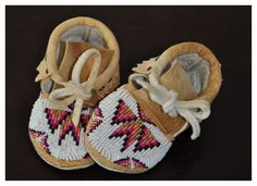 beaded baby moccasins.