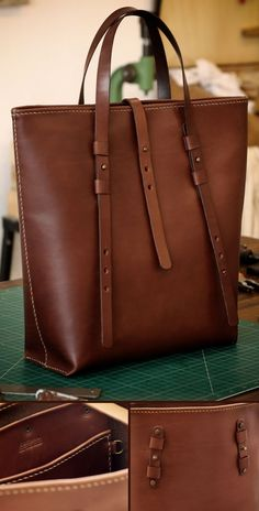 Just finish this special custom leather bag for a special anniversary. Tote Handbags, Purses And Handbags, Luxury Handbags, Fossil Handbags, Cheap Handbags, Luxury Purses, Guess Handbags, Luxury Bags, Leather Purses