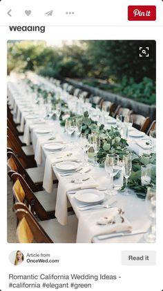 mesa blanca, cristal y verde sencilla