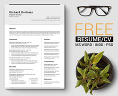 simple cover letter template word Free Simple Resume Template with Cover Letter For Creative . Best Free Resume Templates, Microsoft Word Resume Template, Simple Resume Template, Resume Design Template, Cv Template, Cover Letter Template Word, Cover Letter For Resume, Cover Letters, Mockup