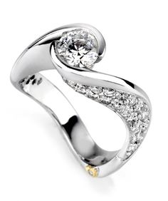 Another great unique ring.   Ultimate Engagement Ring - Mark Schneider