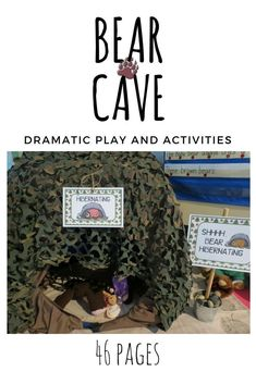 Going on a bear hunt, going to catch a big one! Your preschoolers and kindergartens will have so much fun exploring and learning with the bear cave pretend play unit during your bear or camping theme. Subitizing Activities, Writing Activities For Preschoolers, Phonemic Awareness Activities, Senses Activities, Handwriting Activities, Preschool Writing, Preschool Ideas, Bear Theme Preschool, Print Awareness