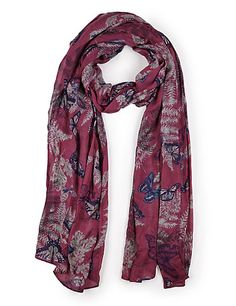 Marks & Spencer- INDIGO COLLECTION New Modal Blend Fern Butterfly Print Scarf