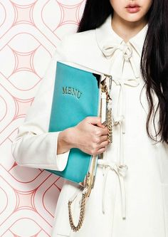Moschino Cheap & Chic resort 2014, cute menu purse....