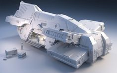 spaceshipsgalore:Taiidan Destroyer by Mike Luard | Sci-Fi | 3D |...