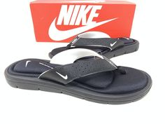 cd09bdad87af1 Nike Women s Comfort Thong Sandals Black Size 11  fashion  clothing  shoes