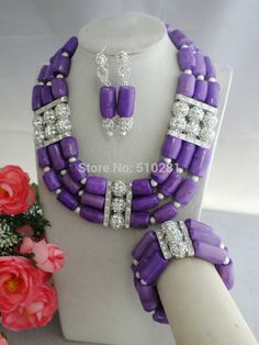 Find More Jewelry Sets Information about Z 2267 African Purple Coral Beads Jewelry Set For Wedding Or Party,High Quality Jewelry Sets from Changzhou Tiancai Jewelry Co., Ltd. on Aliexpress.com