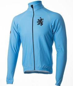 Orkaan Water proof cycling jersey de muur - stolen goat - blue front 0b8c8c4ef