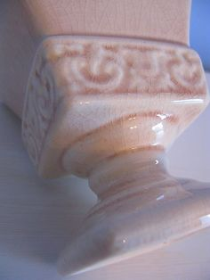 Vintage Pink Vase California Pottery by Vintage French Roses $15 *SOLD*