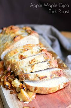 Apple Maple Dijon Pork Roast | from willcookforsmiles.com #holidayrecipes #thanksgiving (using CHICKEN instead.)