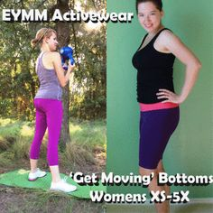Womens Activewear 'Get Moving' Fitted Bottoms & Leggings (XS-5X)   YouCanMakeThis.com