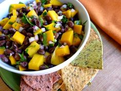 Black Bean Mango Salsa | Easy Healthy Recipes