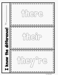 they 39 re vs there vs their homophone worksheet homophones pinterest spelling and worksheets. Black Bedroom Furniture Sets. Home Design Ideas