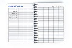 Amazon.com : Fitness Logbook: Undated Workout Journal w/ Pen - 4 x 6 inches - 75 Workouts - Thick Paper, Durable Cover, Round Corners, Wire-bound - Stylish And Easy-To-Use Gym Log Book : Sports & Outdoors