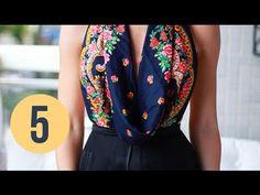 Coisas que Gosto: DIY: Transforme 1 lenço em 5 blusas