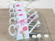 """""""English Garden"""" Watering Can Favor Box Kit with Flower(set of Blue Wedding Favors, Candle Wedding Favors, Wedding Favor Boxes, Wedding Gifts, Party Gifts, Diy Gifts, Party Favors, Party Decoration, Wedding Decorations"""