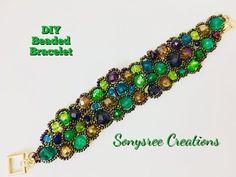 DIY Asymmetric Freeform Beaded Bracelet - YouTube