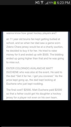 See, this is EXACTLY why hockey is the greatest sport on Earth. You tell me what other sport this would have happened in. Seriously, it doesn't. I live, breathe, and die hockey, and this is the perfect explanation as to why. #LGR💙💙💙❤️💙