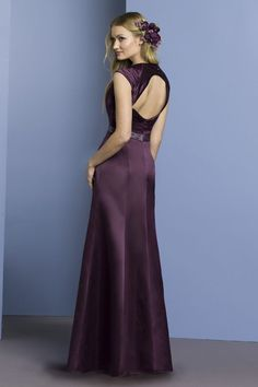 Dark Purple Bridesmaid Dresses | ... Dresses Column Off Shoulder Bridesmaid Dress With Belt Dark Purple