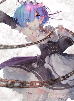 Rem (Re:Zero) - Re:Zero Kara Hajimeru Isekai Seikatsu - Mobile Wallpaper - Zerochan Anime Image Board Girls Anime, Manga Girl, Anime Art Girl, Waifu Material, Estilo Anime, Re Zero, Beautiful Anime Girl, Animes Wallpapers, Yandere