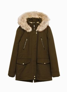 Image 8 of PARKA STYLE COAT from Zara