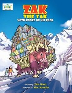 Zak The Yak With Books On His Back  Zak, the Yak, loves to travel, and over a cup of tea with a new friend he hears the sad tale of local school children who are eager to learn but do not have the books or resources. Zak is determined to help the students.