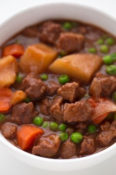 We've created a vegan version of Spanish beef stew that is gluten-free, low in fat and high in protein. It's a delicious dinner recipe and a complete meal.