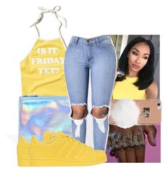 """"""""""" by kodakdej ❤ liked on Polyvore featuring Hollister Co., ASOS and adidas Originals"""