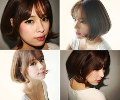 Pin by gene sripawadkul on mode Shot Hair Styles, Curly Hair Styles, Asian Hair, Korean Hair, Ulzzang Short Hair, Beauty And The Best, Spring Dresses Casual, Brunette Hair, Hair Day