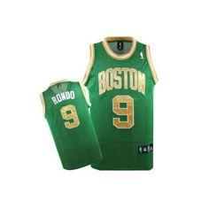 Camiseta Boston Celtics verde y dorada - Rondo - www.basket3c.com