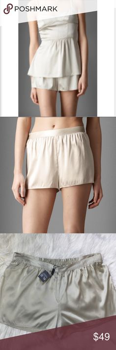 NWT Burberry silk shorts 150$ New with tags Burberry body silk shorts size large stretchable on the back super cute natural white color original price 150$ Burberry Shorts Jean Shorts