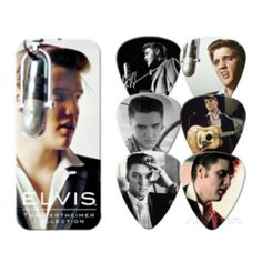 1956 Elvis Presley Wethheimer Collection Guitar Picks Tin includes 6 medium Elvis Presley picks.