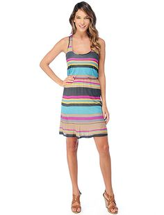 striped dress. this would be so goodd for spring:) oh wait, it's only winter :(
