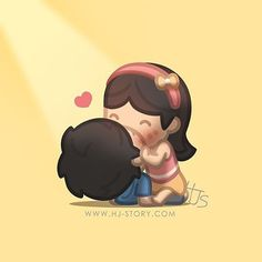 Love is :: Kiss Hj Story, Cute Love Stories, Love Story, True Stories, Anime Couples, Cute Couples, Cute Love Cartoons, Couple Cartoon, Chibi Couple