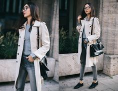 Get this look: http://lb.nu/look/7864020  More looks by Beatrice Gutu: http://lb.nu/thefashioncuisine  Items in this look:  Trench Coat, Sweaters, Jeans, Shoes   #chic #classic #minimal