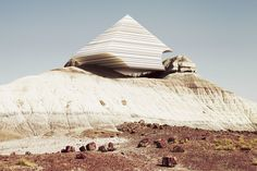Fascinated by the desert landscape of Arizona, photographer Ben Sandler and Zeitguised studio imagined Badlands series offering a surreal render, mixing photography and modeling with talent. Badlands Series, Creators Project, Communication Art, Futuristic Architecture, Beautiful Architecture, Geology, Images, Digital Art, Tumblr