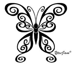 Tattoo Templek: Tattoo Pictures by Zachary Haas Tribal Butterfly Tattoo, Butterfly Tattoo Designs, Butterfly Design, Body Art Tattoos, Tribal Tattoos, Tatoos, Unique Tattoos, Small Tattoos, Insect Clipart