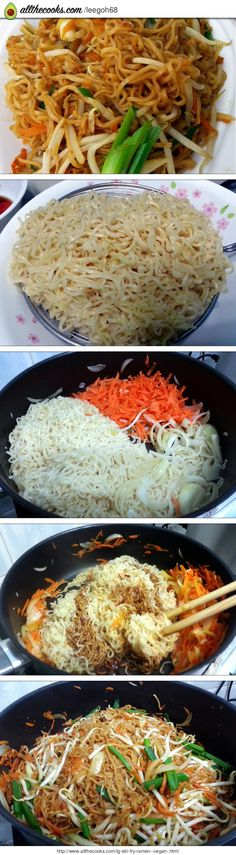"STIR FRY RAMEN ""MY VEGAN VERSION QUICK STIR FRY NOODLE ORIENTAL STYLE"