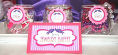 Fancy Nancy FOod Labels and Candy BUffet Ideas