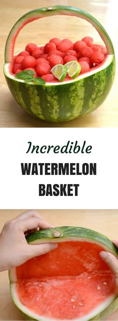 This watermelon basket is so easy to make. It looks so beautiful and is fun to make!