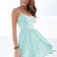 Summery light blue dress!