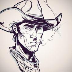 Work in progress ^^ - #luckyluke #lucky #luke #western #cowboy #daisytown #comics #artwork #drawing #drawer #artist #creation #creative #artbook #tribute #outfit #inking #pencils #sketch #character #luckycomics #comicbook #art #illustration #portrait #dupuis #dargaud #bd #bandedessinee