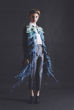 Blue layered coat- Designed by Judith van Vliet