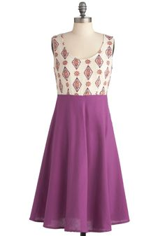 Global Thinking Dress by Mata Traders - Long, Casual, Purple, White, Print, Handmade & DIY, Tank top (2 thick straps)