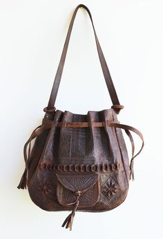Dilly Leather Bag Large from Morocco