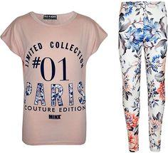 ef8096757 Amazon.com: Kids Girls Top #01 Paris Printed Trendy Top & Stylish