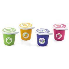 Viga Set of 4 Wooden Yoghurt Pots & Lid: Amazon.co.uk: Kitchen & Home