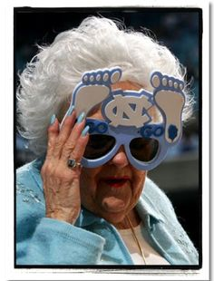 She has been a staple at UNC games for as long as I can remember...